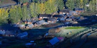 Casa y campo Imagen de archivo libre de regalías
