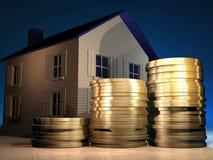 Casa y dinero Fotografía de archivo libre de regalías