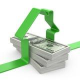 Casa y dinero Imagenes de archivo