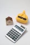 Casa y dinero Imagen de archivo