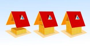 Casa y gráfico Imagen de archivo