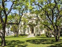 Casa y jardín delantero, viaje el 14 de agosto de 2017 - Los Ángeles, LA, Californi de las imágenes, de Schulberg de los estudios Fotos de archivo libres de regalías