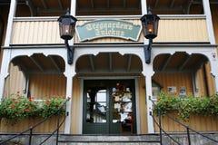 Casa y la oficina de correos de Santa Claus Imagenes de archivo