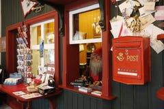 Casa y la oficina de correos de Santa Claus Imagen de archivo