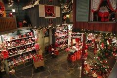 Casa y la oficina de correos de Santa Claus Foto de archivo