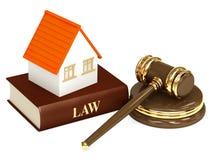 Casa y ley Imagenes de archivo