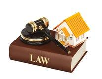 Casa y ley ilustración del vector