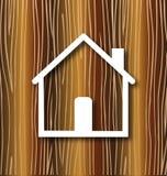 Casa y madera stock de ilustración