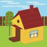 Casa y manzano Fotos de archivo libres de regalías