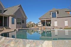 Casa y piscina 1 Fotografía de archivo