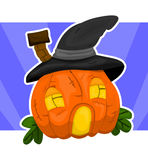 Casa-zucca di Halloween Immagine Stock