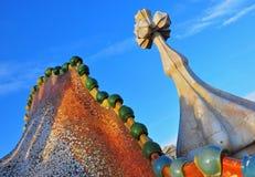 CasaBatllo detaljer av Antonio Gaudi Royaltyfria Foton
