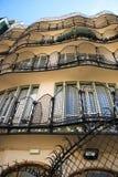 CasaBatllo inre gård, byggande fasad Arkivbild