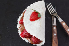 Casabe (bammy, beiju, peso, biju) - flatbread dalla manioca (Tapio immagine stock