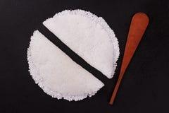 Casabe bammy, beiju, peso, biju - flatbread della tapioca della manioca immagini stock libere da diritti