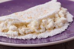 Casabe bammy, beiju, plomb, biju - flatbread de tapioca de manioc Photographie stock libre de droits