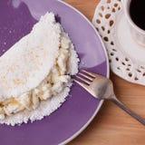 Casabe bammy, beiju, plomb, biju - flatbread de tapioca de manioc Photo stock