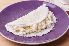 Casabe bammy, beiju, plomb, biju - flatbread de tapioca de manioc Images libres de droits