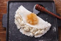 Casabe bammy, beiju, plomb, biju - flatbread de tapioca de manioc Images stock