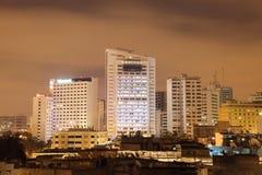 Casablanca alla notte Immagini Stock