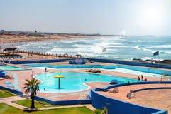 Casablanca beach in summer, Morocco Stock Photo
