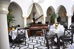 Casablanca brogu kawiarnia fotografia stock