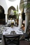 Casablanca brogu kawiarnia zdjęcie stock