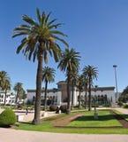 Casablanca center. Main square in Casablanca with government building, Morocco Stock Photography