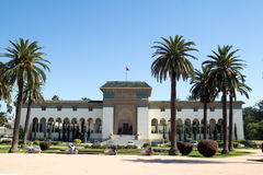 Casablanca center. Main square in Casablanca with government building, Morocco Stock Photos
