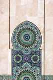 Casablanca decor in Morocco. Decoration of Mosque Hassan II Royalty Free Stock Photo