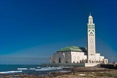 casablanca hassan ii konungmorocco moské Fotografering för Bildbyråer