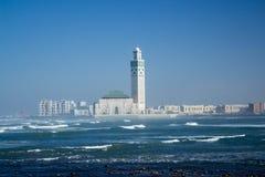casablanca Hassan ii królewiątka Morocco meczet fotografia royalty free