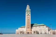 casablanca hassan ii morocco moské Royaltyfri Foto
