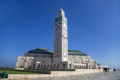 casablanca hassan ii morocco moské Fotografering för Bildbyråer