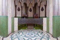 casablanca hassan ii morocco moské Royaltyfria Bilder