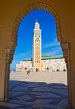 casablanca hassan ii moské Arkivfoto