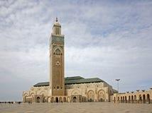 casablanca hassan ii moské morocco Arkivbilder