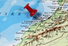 Casablanca i Marocko Fotografering för Bildbyråer