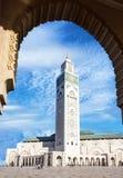 Casablanca landmark in Morocco. Mosque Hassan II building Royalty Free Stock Images