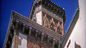 CASABLANCA, MAROC 1972 : Plans rapprochés toscans de style d'architecture de villa de style clips vidéos
