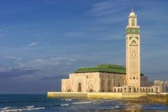 Casablanca Marocko, Hassan II moské Royaltyfri Bild