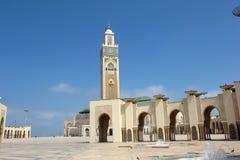 CASABLANCA MAROCKO MAY 18 2012 härliga moské Hassan i andra hand, Maj 18 2012 Casablanca, Marocko Arkivbilder