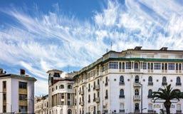 Casablanca, Marokko De historische hotelbouw Stock Afbeeldingen
