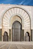 Casablanca, Marokko Moscheengebäudetüren Stockfotos