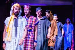 Casablanca, Marokko - 26. September 2017: Modelle, die auf gehen Lizenzfreie Stockbilder