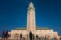 Casablanca Maroko, Październik, - 29, 2017: widok turyści walkin Obrazy Royalty Free