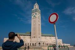 Casablanca Maroko, Październik, - 29, 2017: widok turystyczny brać Fotografia Stock