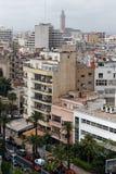 Casablanca Maroko, widok forma katedra zdjęcia royalty free