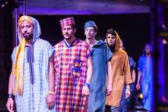 Casablanca Maroko, Wrzesień, - 26, 2017: modele chodzi na Zdjęcie Stock