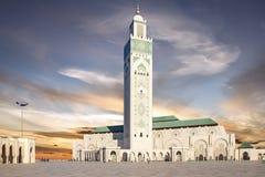 Casablanca, Marrocos Mesquita Hassan II que constroem Fotos de Stock